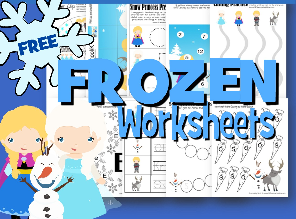 hight resolution of FREE Frozen Worksheets for Kids