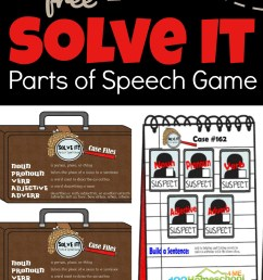 FREE Solve It Parts of Speech Game [ 1919 x 1024 Pixel ]