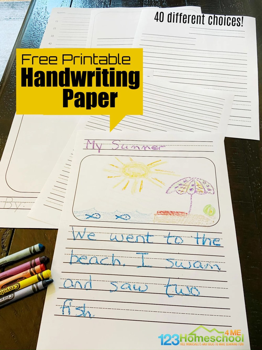 medium resolution of FREE Printable Handwriting Paper