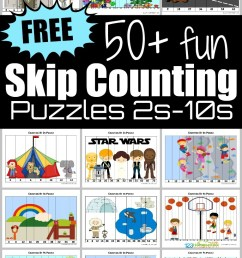⭐ FREE Skip Counting Puzzles [ 1132 x 766 Pixel ]
