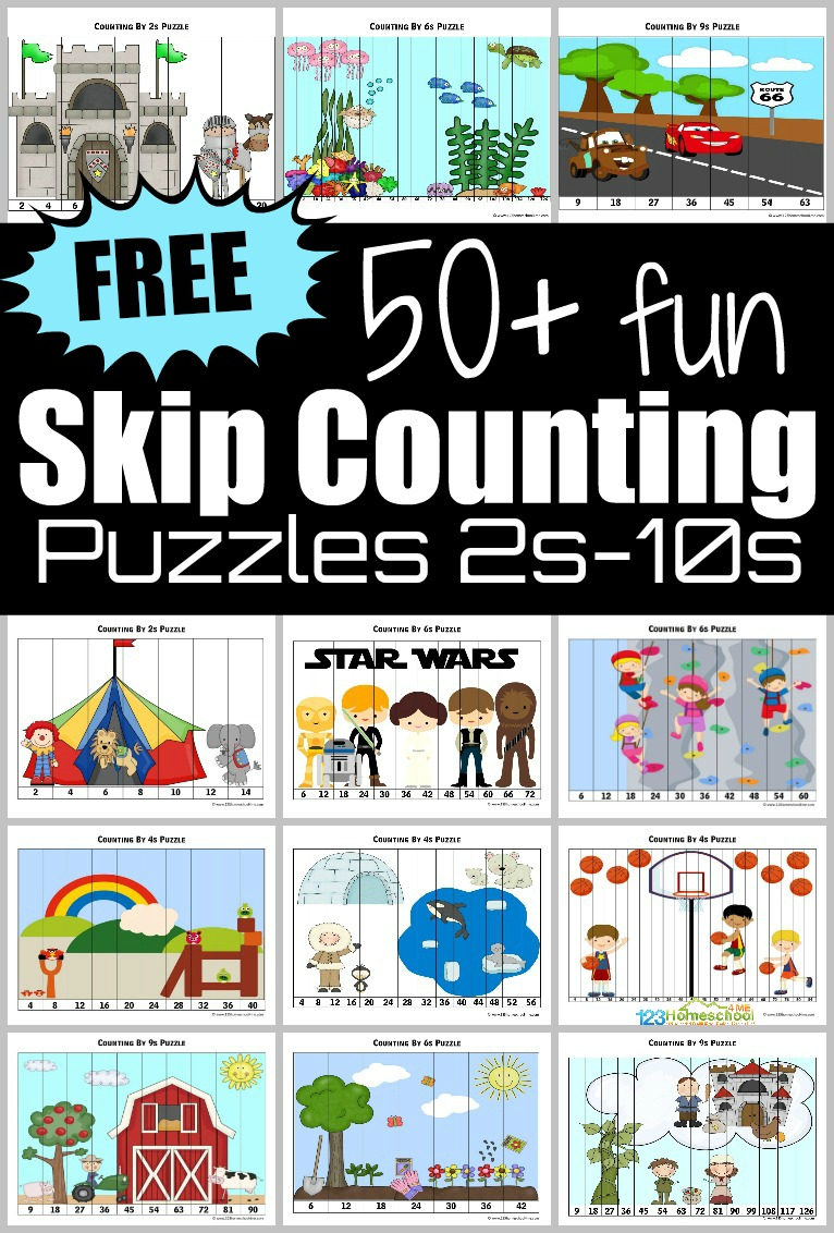 hight resolution of ⭐ FREE Skip Counting Puzzles