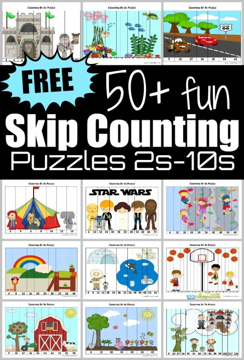 small resolution of ⭐ FREE Skip Counting Puzzles