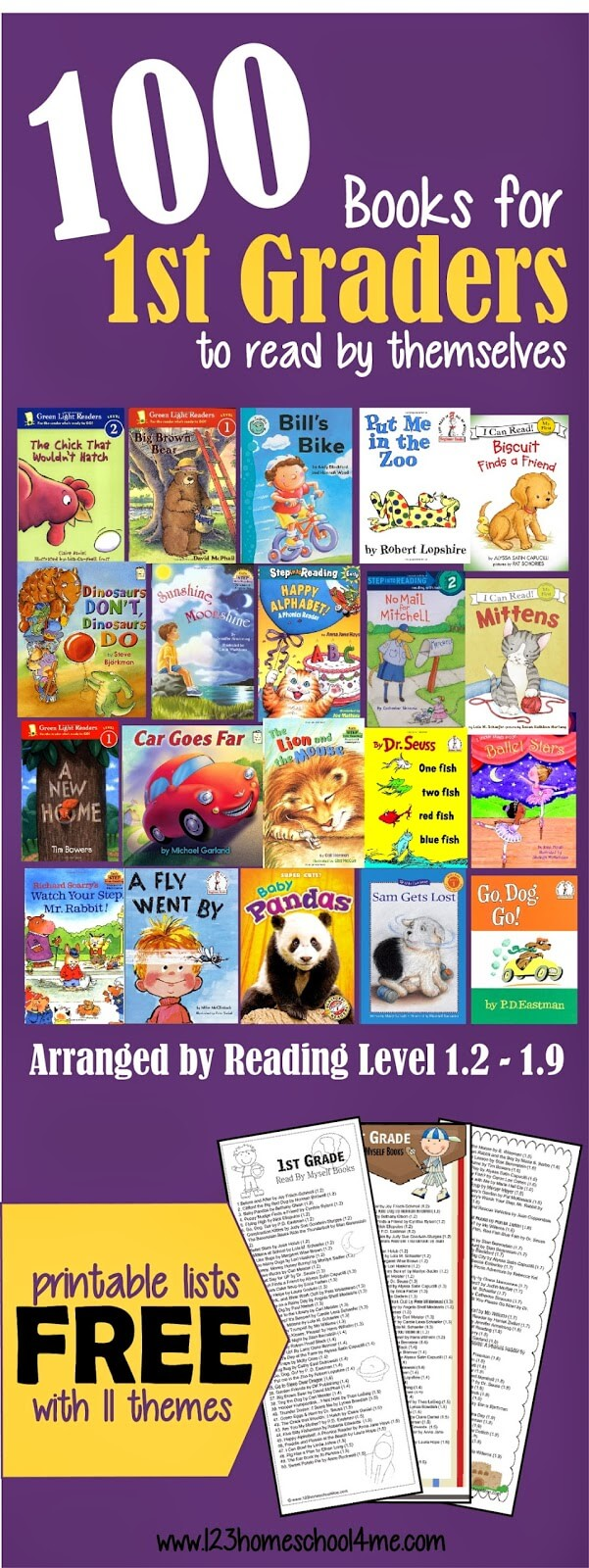 hight resolution of 100 Fun-to-Read 1st Grade Reading Books (by reading level)