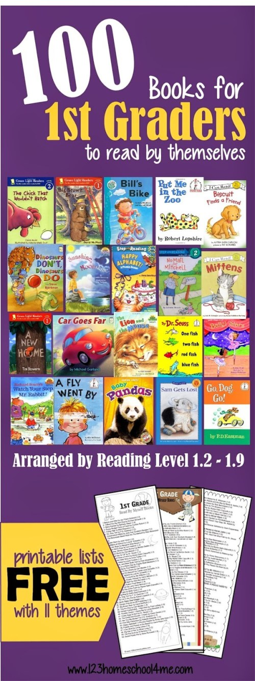 small resolution of 100 Fun-to-Read 1st Grade Reading Books (by reading level)