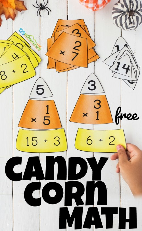 small resolution of FREE Candy Corn Math - Multiplication and Division Puzzles