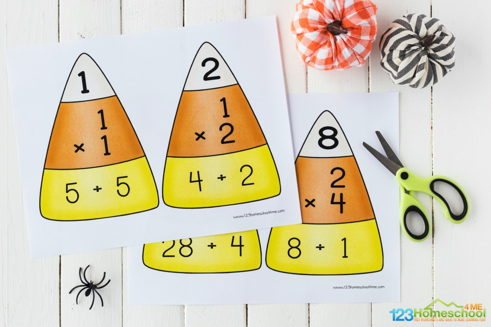 medium resolution of FREE Candy Corn Math - Multiplication and Division Puzzles