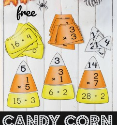 FREE Candy Corn Math - Multiplication and Division Puzzles [ 1565 x 960 Pixel ]