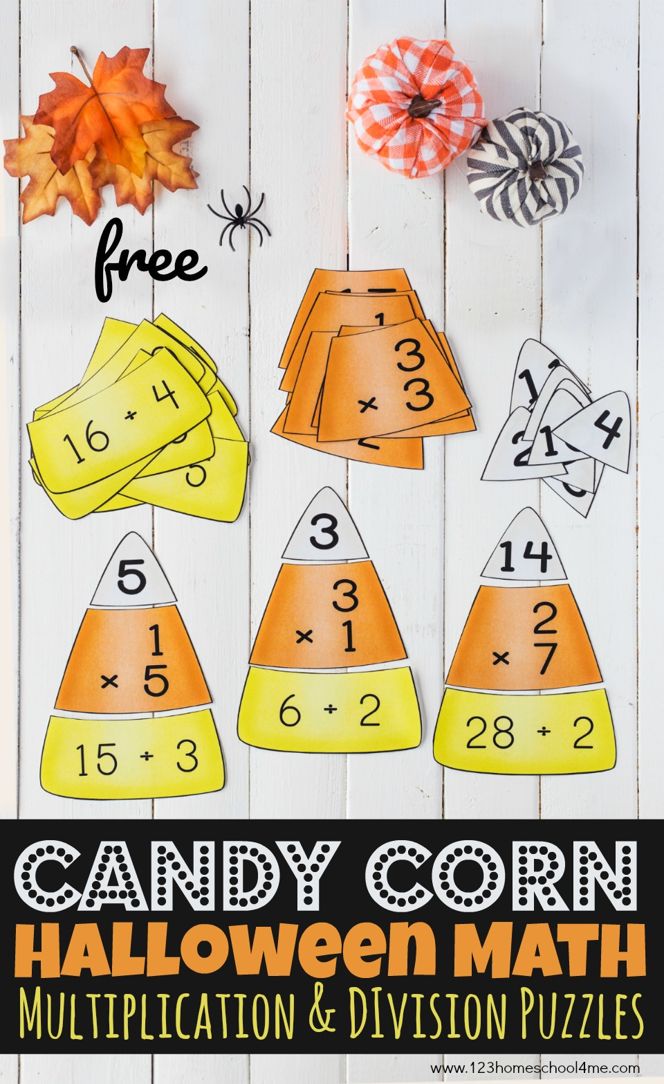 hight resolution of FREE Candy Corn Math - Multiplication and Division Puzzles