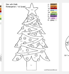 FREE Christmas Color by Number [ 538 x 1737 Pixel ]