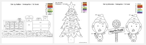 small resolution of FREE Christmas Color by Number