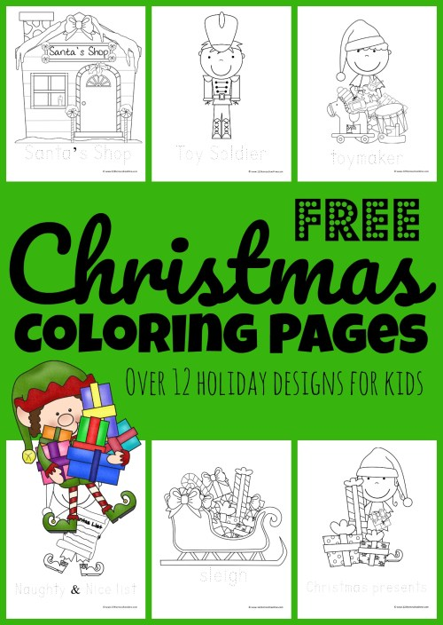 small resolution of FREE Santa's Helpers Christmas Coloring Pages