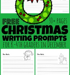 FREE Christmas Writing Prompts for Kids [ 1609 x 1024 Pixel ]