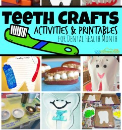 Dental Health Month Teeth Crafts and Activities [ 1611 x 1024 Pixel ]