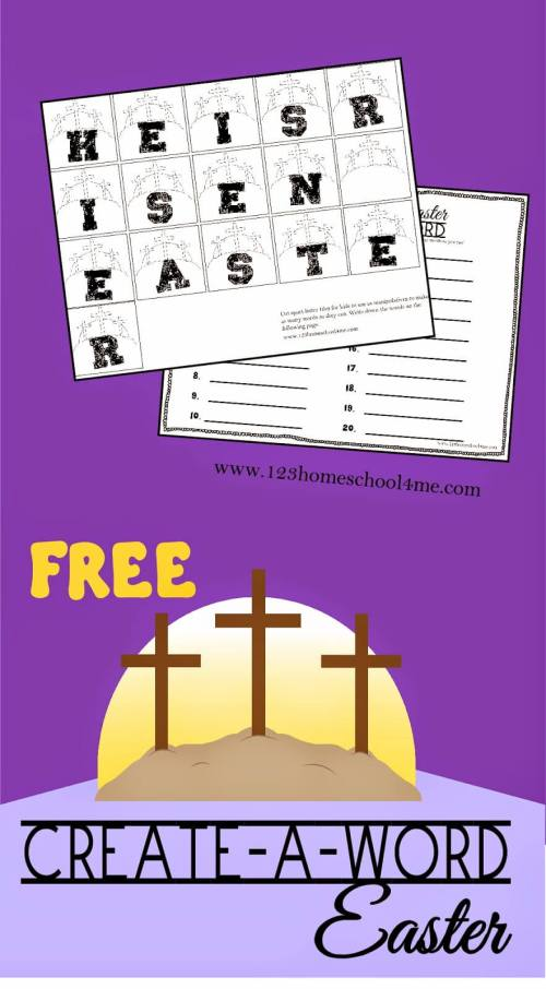 small resolution of FREE Create-A-Word Easter Spelling Worksheeets Activity