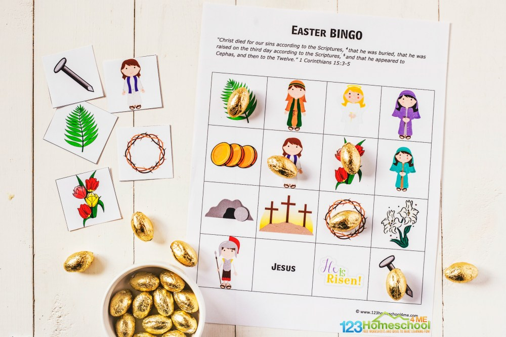 medium resolution of FREE Easter BINGO Printable Game