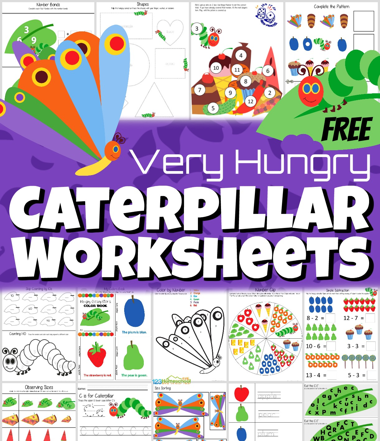 Free The Very Hungry Caterpillar Worksheets