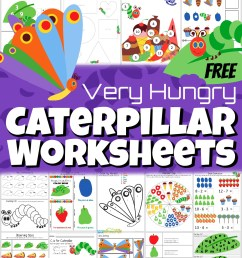 FREE The Very Hungry Caterpillar Worksheets [ 1189 x 1024 Pixel ]
