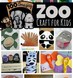 100 Amazing Zoo Animal Crafts [ 1634 x 1024 Pixel ]