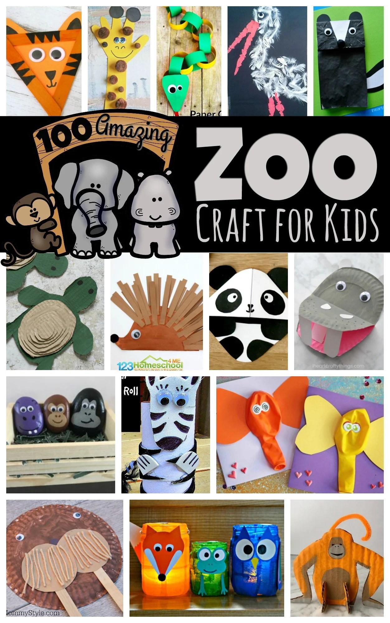 hight resolution of 100 Amazing Zoo Animal Crafts