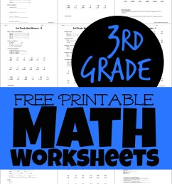 Free Printable 3rd Grade Math Worksheets [ 1623 x 1024 Pixel ]