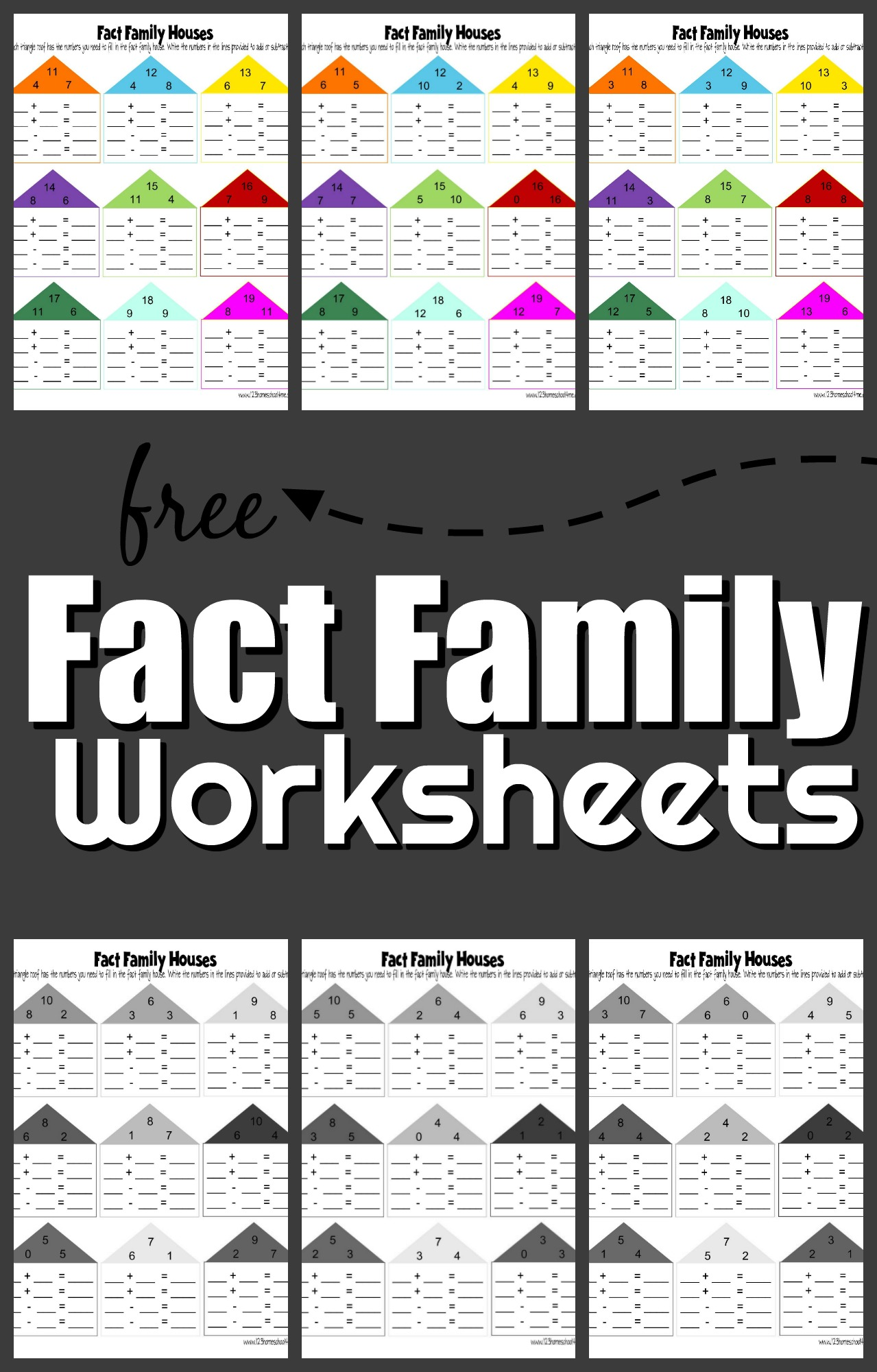 hight resolution of FREE Fact Family Worksheets