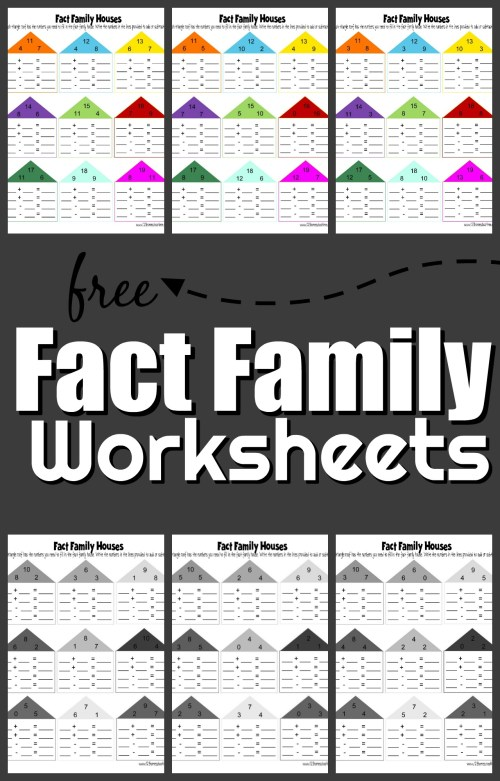 small resolution of FREE Fact Family Worksheets