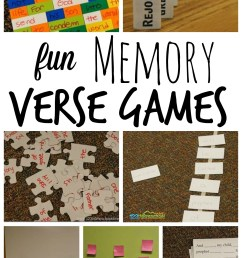 7 FUN Memory Verse Games (work with any verse) [ 1625 x 1024 Pixel ]
