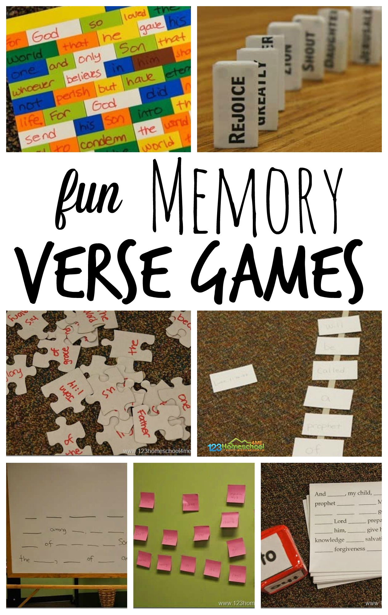hight resolution of 7 FUN Memory Verse Games (work with any verse)