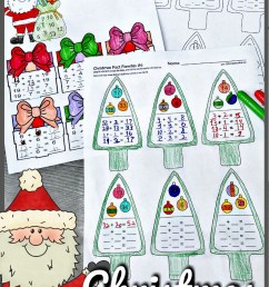 FREE Christmas Fact Families - Addition and Subtraction Math Worksheets [ 1444 x 857 Pixel ]