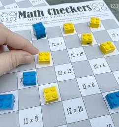 FREE Checkers Printable Multiplication Games [ 1024 x 1365 Pixel ]