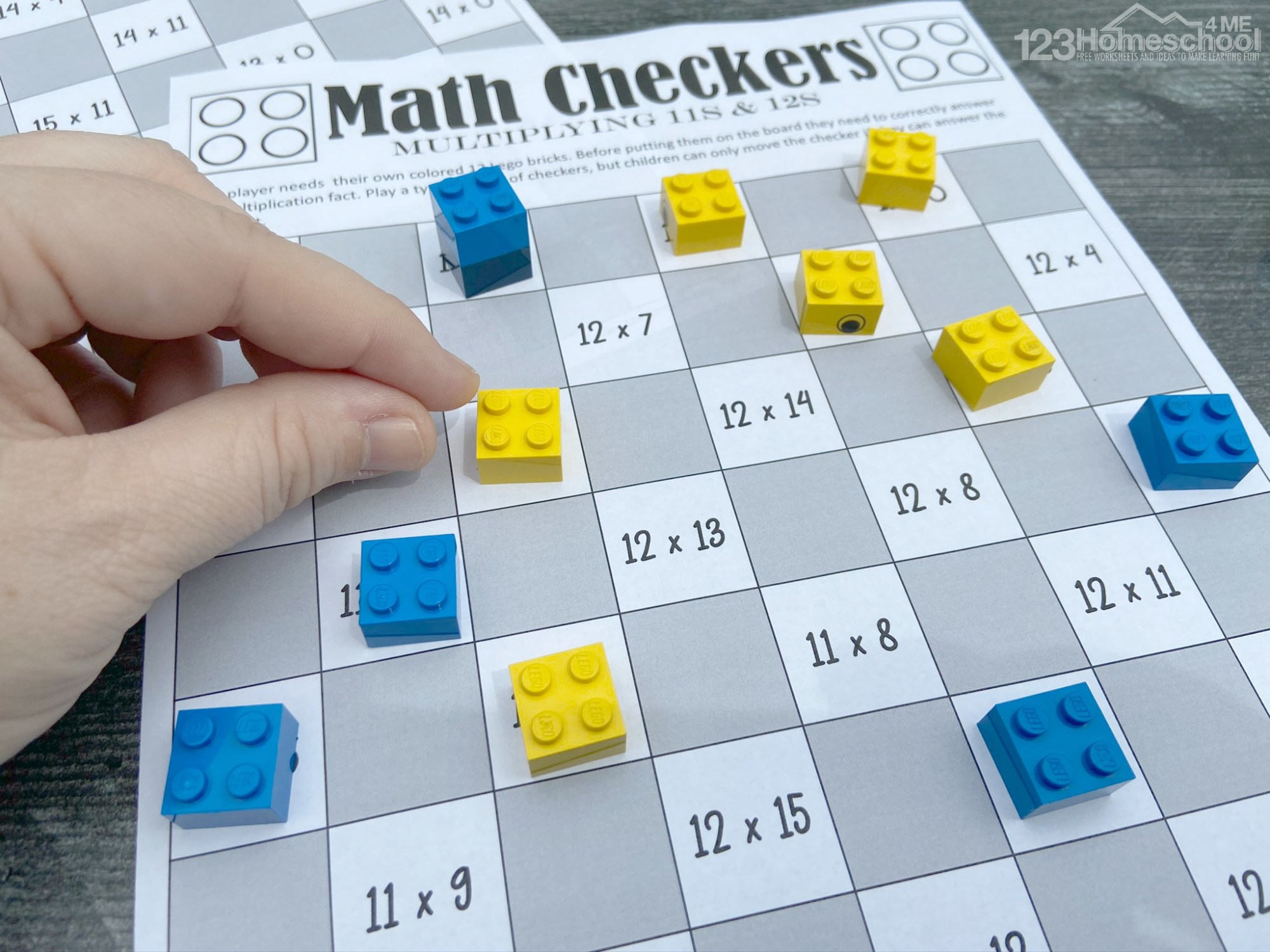 hight resolution of FREE Checkers Printable Multiplication Games