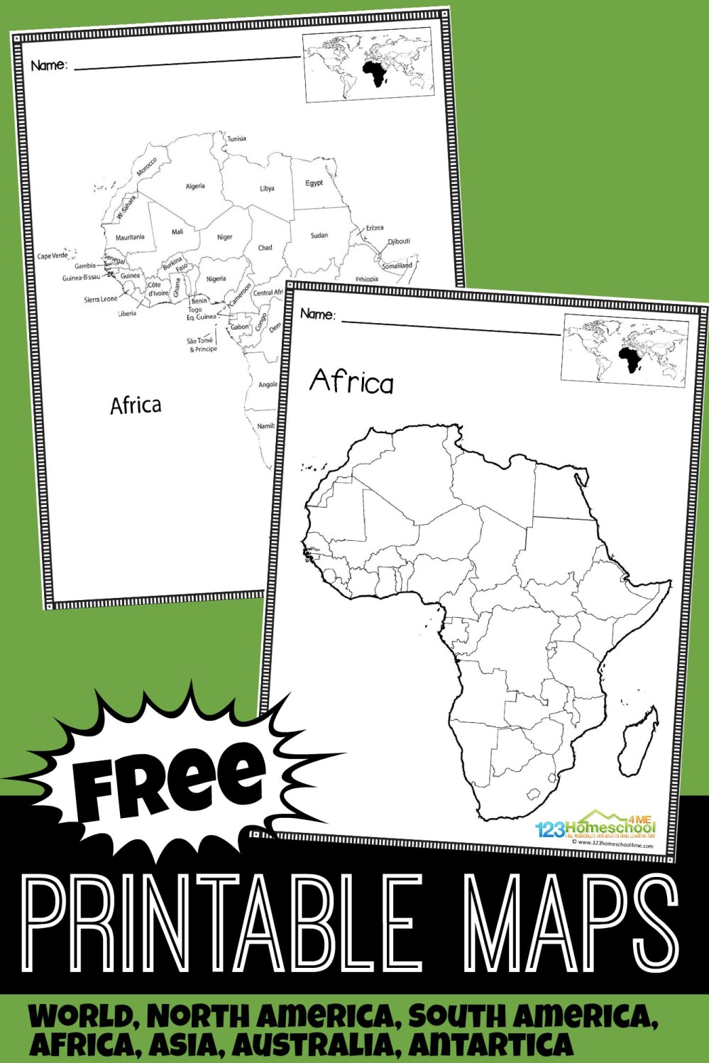 medium resolution of FREE Printable Maps for Kids