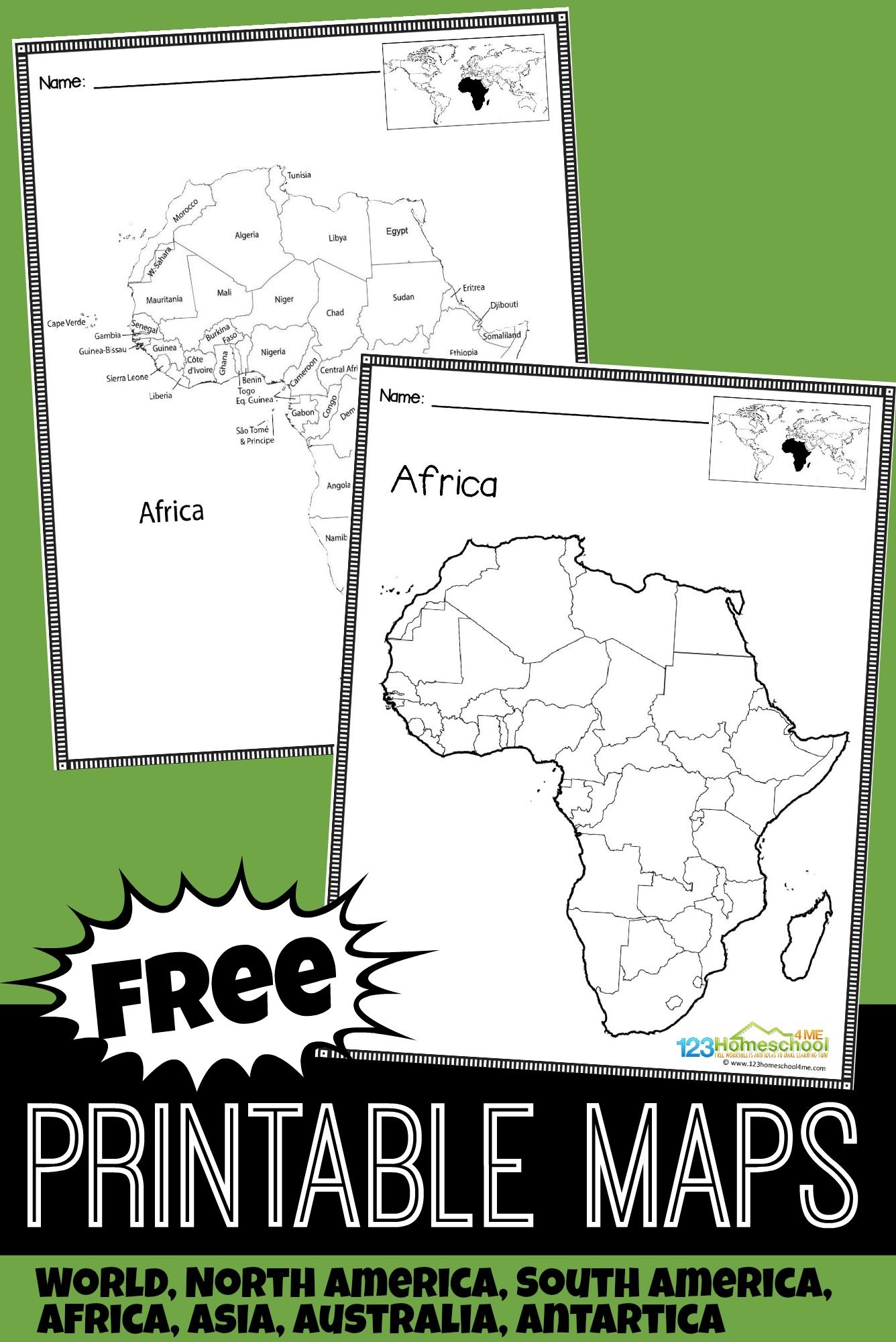 hight resolution of FREE Printable Maps for Kids