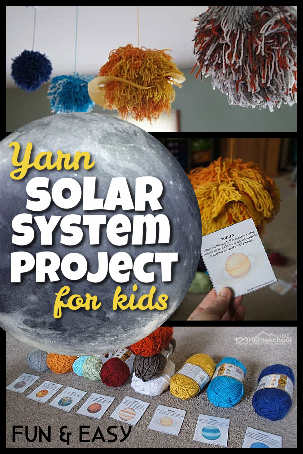 medium resolution of FUN Yarn Solar System for kids Project