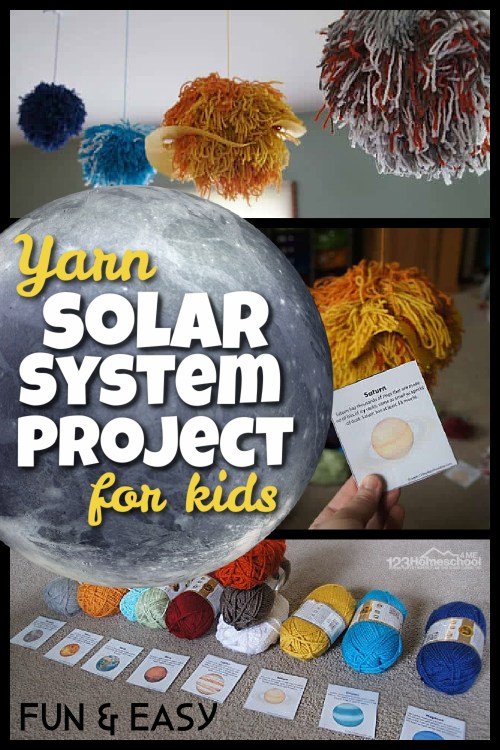 small resolution of FUN Yarn Solar System for kids Project