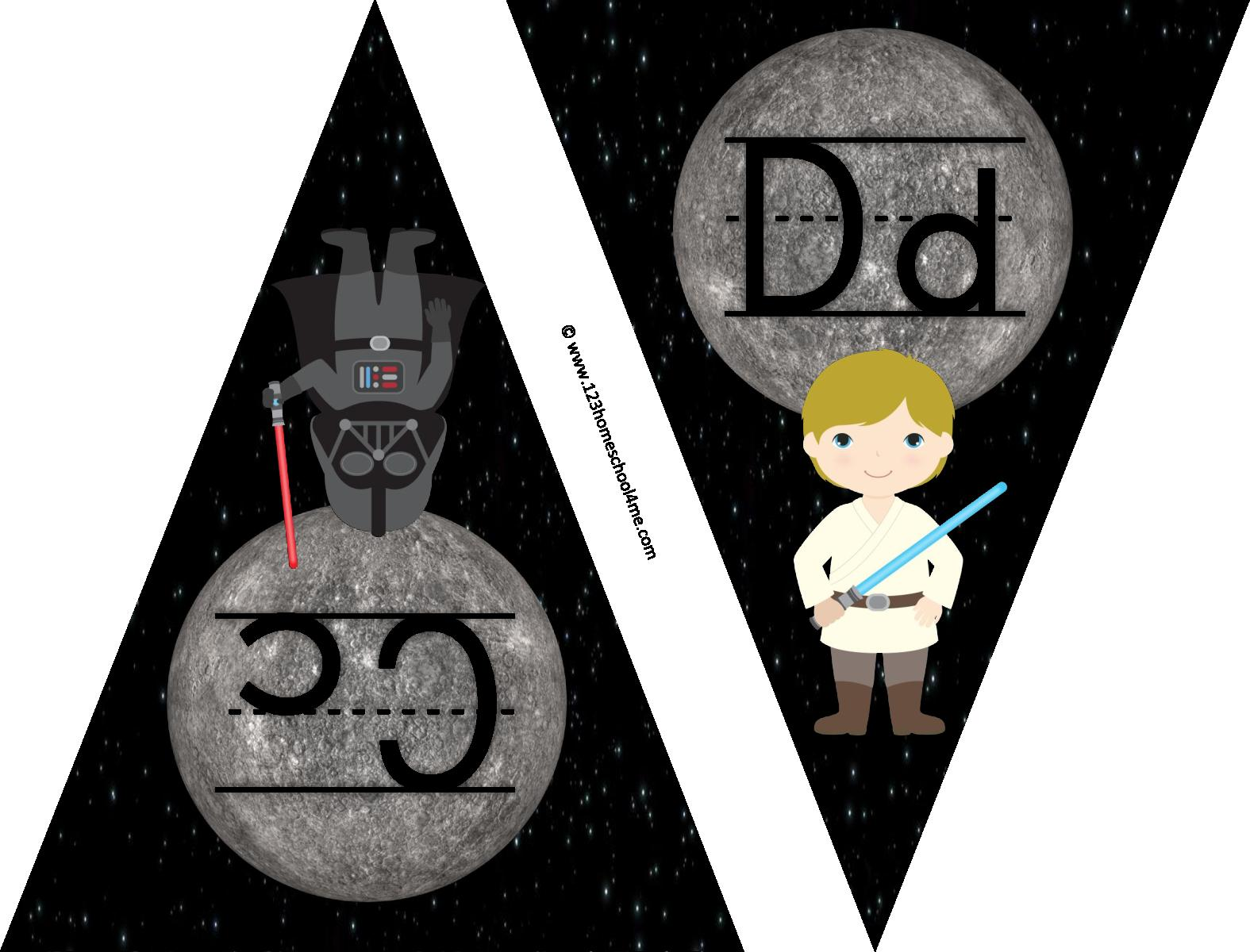 Star Wars Alphabet Pennants