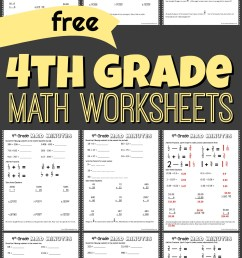 FREE 4th Grade Math Worksheets [ 1749 x 1024 Pixel ]