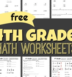 FREE 4th Grade Math Worksheets [ 1024 x 1170 Pixel ]