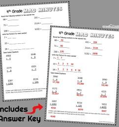 FREE 4th Grade Math Worksheets [ 1024 x 1024 Pixel ]