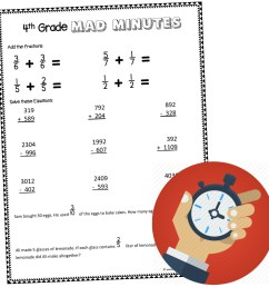 4th Grade Worksheets Projects Math   Printable Worksheets and Activities  for Teachers [ 1024 x 1024 Pixel ]
