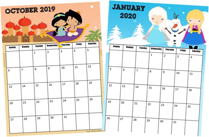 cute november 2019 calendar printable
