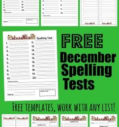 FREE December Spelling Tests [ 1526 x 1024 Pixel ]