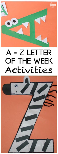 Super cute Alphabet Crafts from A to Z for toddler, preschool, prek, kindergarten age kids. So many fun letter crafts to hel kids learn while making a fun craft for kids. #alphabet #preschool #kindergarten