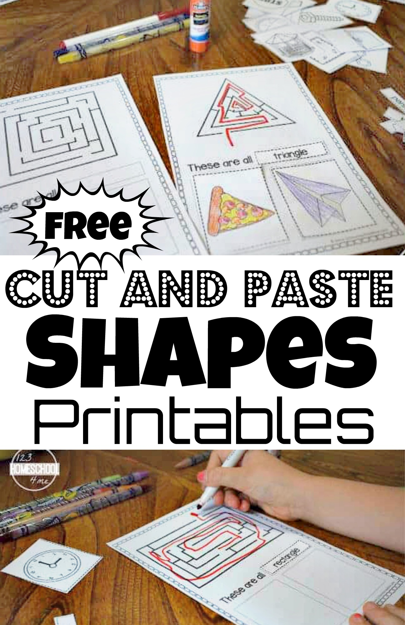 Free Cut And Paste Shapes Printable