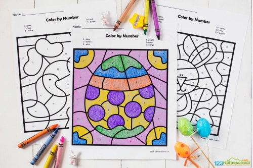 small resolution of FREE Easter Color by Number Worksheets
