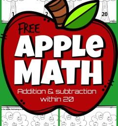 Apple Math Worksheets [ 1585 x 967 Pixel ]