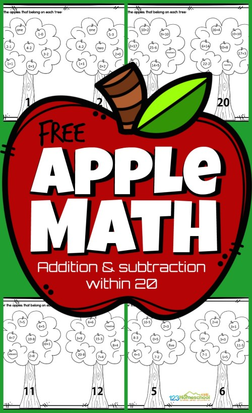 small resolution of Apple Math Worksheets