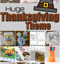 THANKSGIVING THEME with lots of Free Printables \u0026 fun Activities for Kids! [ 1562 x 1024 Pixel ]
