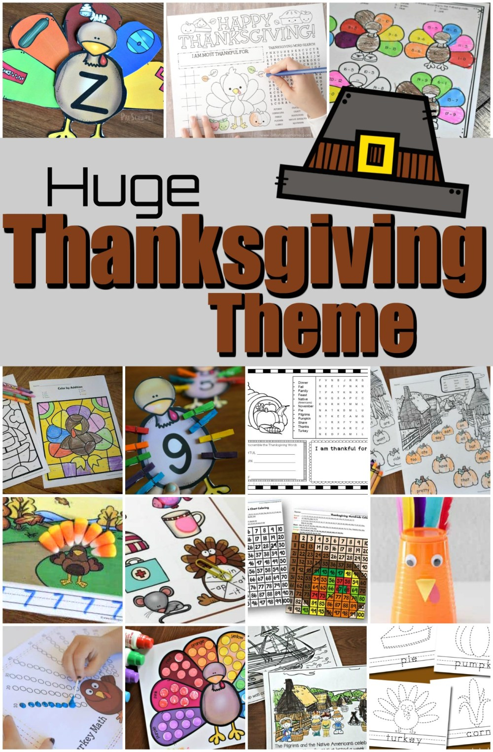 medium resolution of THANKSGIVING THEME with lots of Free Printables \u0026 fun Activities for Kids!