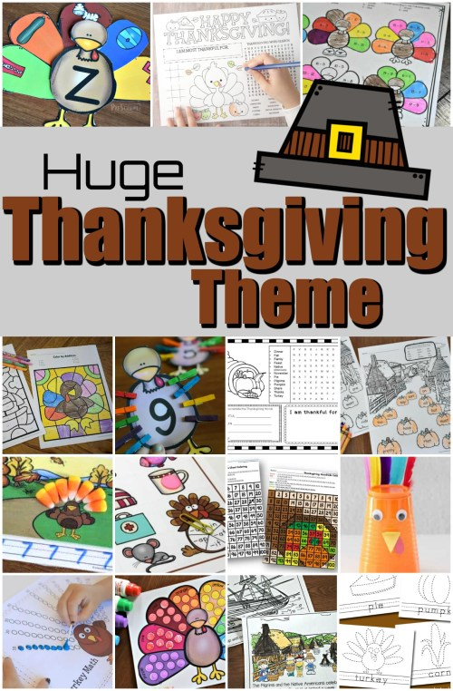 small resolution of THANKSGIVING THEME with lots of Free Printables \u0026 fun Activities for Kids!